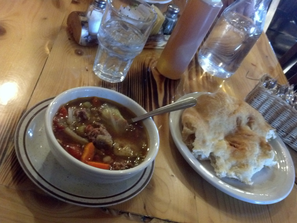 Cowboy Soup and Crow Frybread - all for $8 bucks!