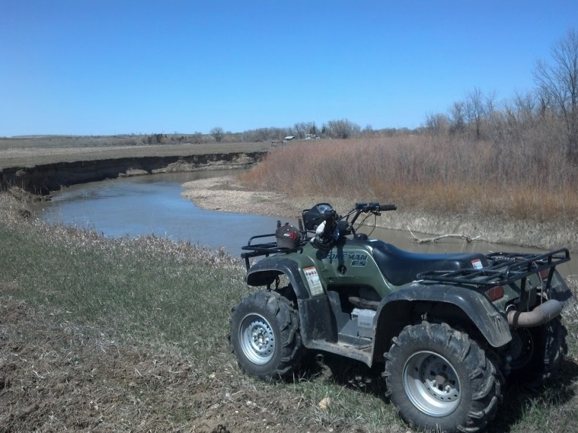 It all started on the ATV lookin for Turkey