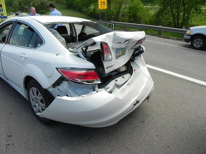 Her car - slight damage!