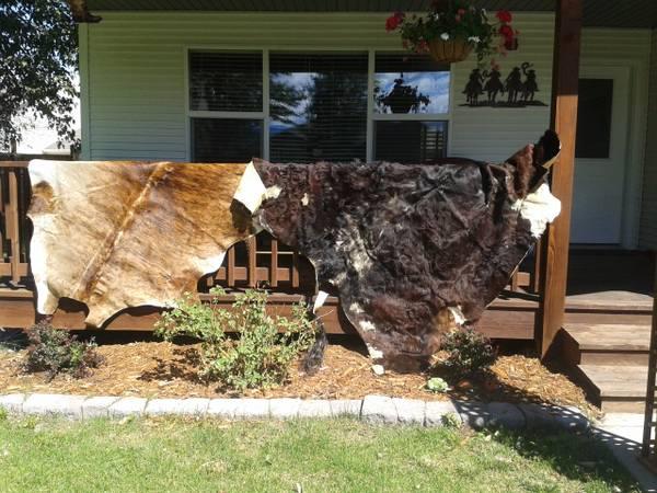 The cowhide rugs!