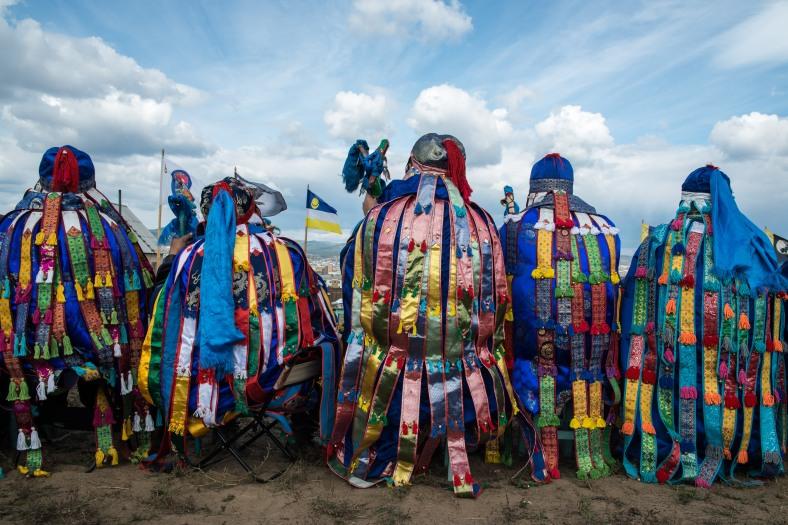 Shamans close heaven's gates in Ulan-Ude, Siberia.